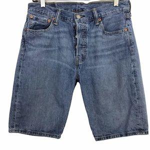 Levi's 501 Button Fly Bermuda Denim Shorts